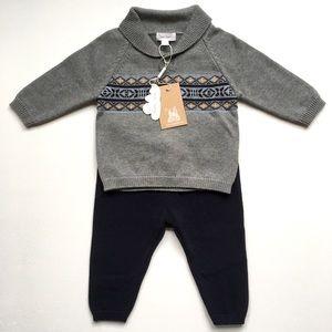 Angel Dear baby boy knit cardigan and pants 12-18M